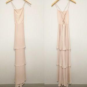 Show Me Your Mumu Blush Pink Calypso Ruffle Dress